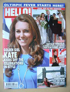 <!--2012-07-30-->Hello! magazine - Kate Middleton cover (30 July 2012 - Iss