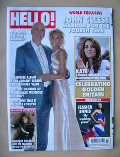 <!--2012-08-20-->Hello! magazine - John Cleese and Jennifer Wade cover (20