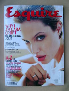 <!--2001-07-->Esquire magazine - Angelina Jolie cover (July 2001)