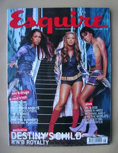 <!--2001-08-->Esquire magazine - Destiny's Child cover (August 2001)