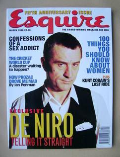 Esquire magazine - Robert De Niro cover (March 1996)