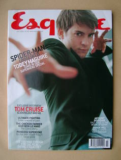 <!--2002-07-->Esquire magazine - Tobey Maguire cover (July 2002)