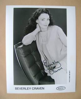 Beverley Craven autograph