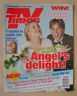 <!--1995-07-08-->TV Times magazine - Melissa George and Dieter Brummer cove