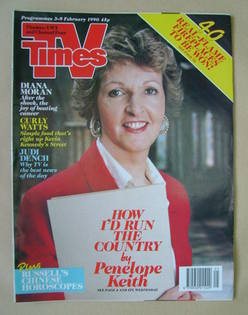 <!--1990-02-03-->TV Times magazine - Penelope Keith cover (3-9 February 199