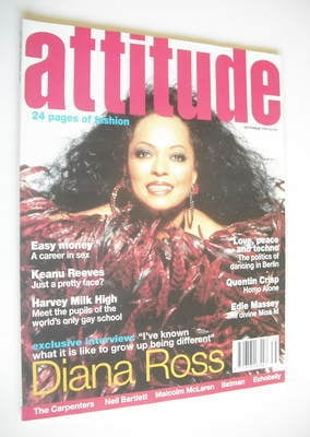 Attitude Magazine Diana Ross Cover September 1994