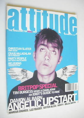 <!--1995-12-->Attitude magazine - Damon Albarn cover (December 1995 - Issue