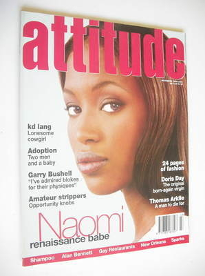 <!--1994-11-->Attitude magazine - Naomi Campbell cover (November 1994)