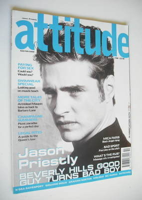 <!--1998-07-->Attitude magazine - Jason Priestley cover (July 1998)