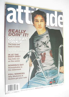 <!--2000-01-->Attitude magazine - Charlie Hunnam cover (January 2000 - Issu