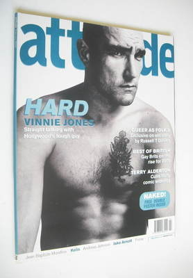 <!--2000-02-->Attitude magazine - Vinnie Jones cover (February 2000 - Issue