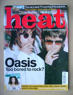 Heat magazine - Liam Gallagher and Noel Gallagher cover (2-8 September 1999 - Issue 31)