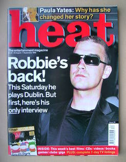 Heat magazine - Robbie Williams cover (26 August-1 September 1999 - Issue 30)