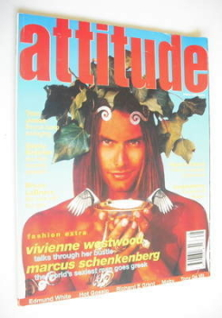 Attitude magazine - Marcus Schenkenberg cover (March 1995 - Issue 11)