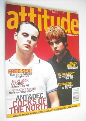 <!--1996-10-->Attitude magazine - Ant & Dec cover (October 1996)