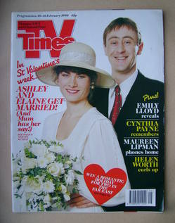 <!--1990-02-10-->TV Times magazine - Janet Dibley and Nicholas Lyndhurst co