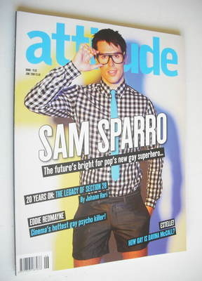 <!--2008-06-->Attitude magazine - Sam Sparro cover (June 2008 - Issue 167)