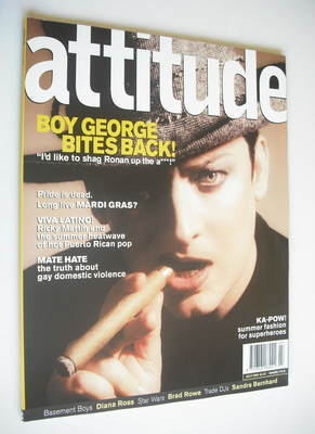 <!--1999-07-->Attitude magazine - Boy George cover (July 1999 - Issue 63)