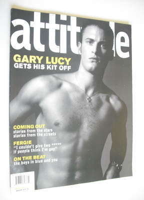 <!--2002-03-->Attitude magazine - Gary Lucy cover (March 2002)