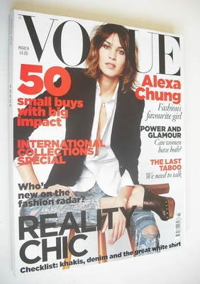 <!--2010-03-->British Vogue magazine - March 2010 - Alexa Chung cover