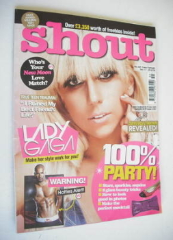 Shout magazine - Lady Gaga cover (17-29 December 2009)