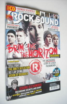 Rock Sound magazine - Bring Me The Horizon cover (October 2012)