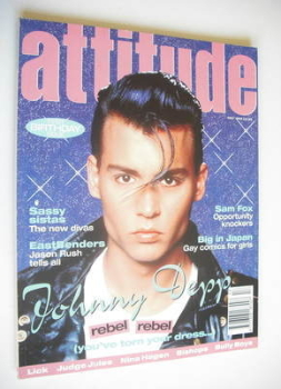 Attitude magazine - Johnny Depp cover (May 1995 - Issue 13)