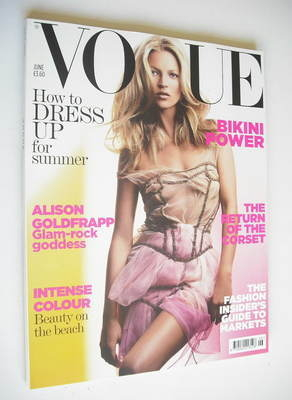 <!--2006-06-->British Vogue magazine - June 2006 - Kate Moss cover