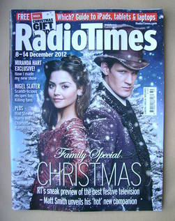 <!--2012-12-08-->Radio Times magazine - Matt Smith and Jenna Louise Coleman