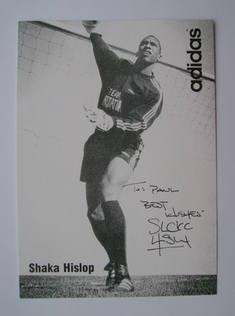 Shaka Hislop autograph
