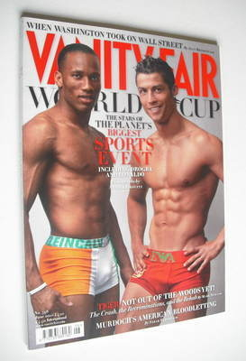 <!--2010-06-->Vanity Fair magazine - Cristiano Ronaldo and Didier Drogba co