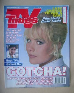 <!--1995-07-01-->TV Times magazine - Letitia Dean cover (1-7 July 1995)
