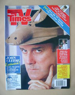 <!--1989-10-28-->TV Times magazine - John Cleese cover (28 October-3 Novemb