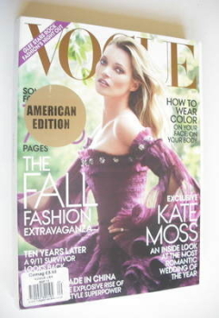 US Vogue magazine - September 2011 - Kate Moss cover