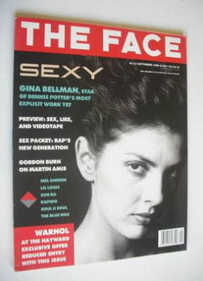<!--1989-09-->The Face magazine - Gina Bellman cover (September 1989 - Volu