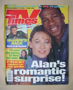 <!--1996-04-27-->TV Times magazine - Lindsey Coulson and Howard Antony cove