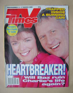 <!--1995-03-11-->TV Times magazine - Julia Watson and Derek Thompson cover