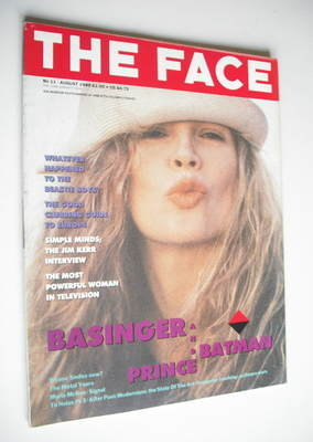 <!--1989-08-->The Face magazine - Kim Basinger cover (August 1989 - Volume