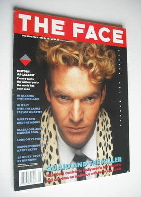 <!--1989-05-->The Face magazine - Dennis Quaid cover (May 1989 - Volume 2 N