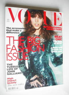 <!--2011-09-->British Vogue magazine - September 2011 - Freja Beha Erichsen
