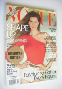 US Vogue magazine - April 2010 - Gisele Bundchen cover
