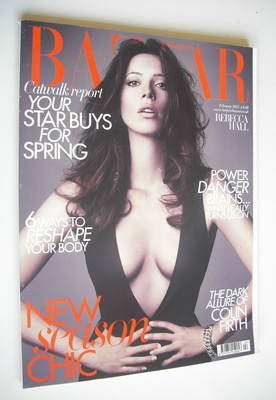 <!--2011-02-->Harper's Bazaar magazine - February 2011 - Rebecca Hall cover