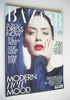 <!--2011-01-->Harper's Bazaar magazine - January 2011 - Emily Blunt cover