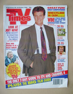 <!--1990-10-20-->TV Times magazine - Peter Howitt cover (20-26 October 1990