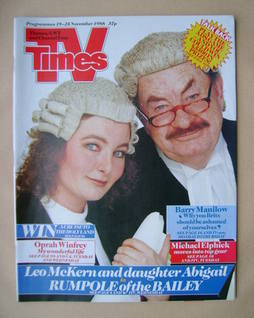 <!--1988-11-19-->TV Times magazine - Leo McKern and Abigail McKern cover (1