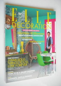 Elle Decoration magazine (January 2009 - Matthew Williamson cover)