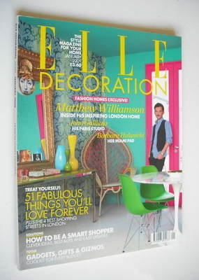 <!--2009-01-->Elle Decoration magazine (January 2009 - Matthew Williamson c