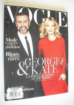 French Paris Vogue magazine - October 2012 - George Michael and Kate Moss cover