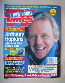 <!--1993-12-04-->TV Times magazine - Anthony Hopkins cover (4-10 December 1
