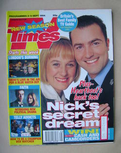 <!--1994-09-03-->TV Times magazine - Niamh Cusack and Nick Berry cover (3-9